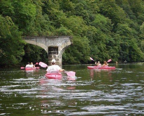 Canoe Kayak sur la Semois au Pont casse de Bohan