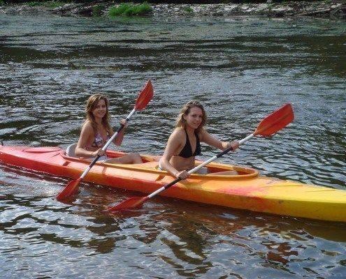Kayak Biplace Soleil a Alle sur Semois