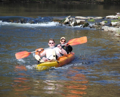 Kayak Biplace soleil a Alle sur Semois en Belgique