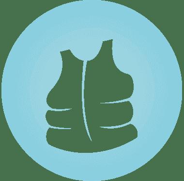 Gilet de sauvetage et seau hermetique