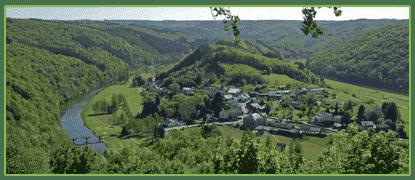 Point de vue de Rochehaut sur Frahan Bouillon